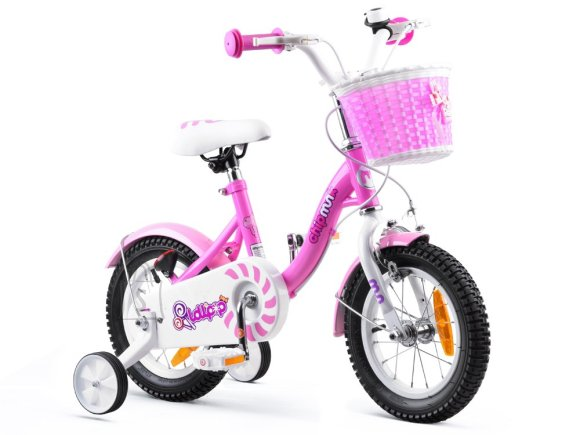 RoyalBaby Girls' Bicycle 12 roosa