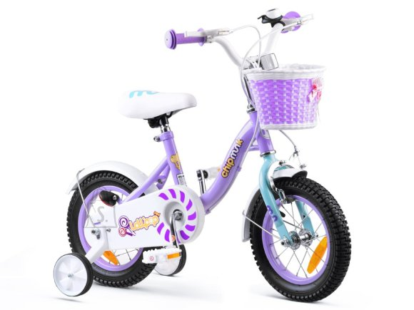 RoyalBaby Girls' Bicycle 12 lilla
