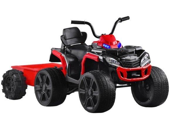 Järelkäruga ATV lastele punane