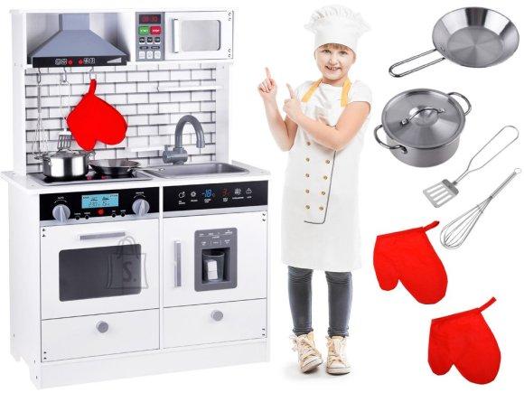 Large Wooden Kitchen, light, sound + accessories ZA3717