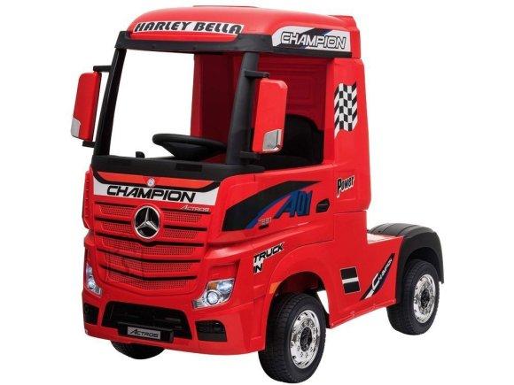 Elektriline veoauto Mercedes punane