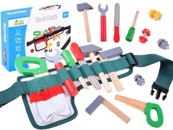 Puidust mängu tööriistakomplekt vööga