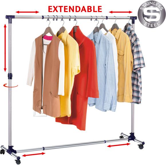 Tatkraft Tatkraft New York spetsiaalsete riidepuukonksudega riidestange