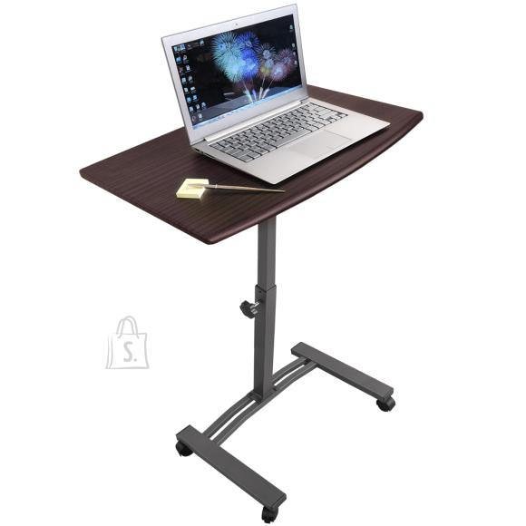 Tatkraft Tatkraft Salute reguleeritav ratastega sülearvuti laud
