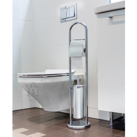 Tatkraft Tatkraft VIVIAN 2-in-1 eraldiseisev WC-rullihoidja ja suletud WC-harjakomplekt.