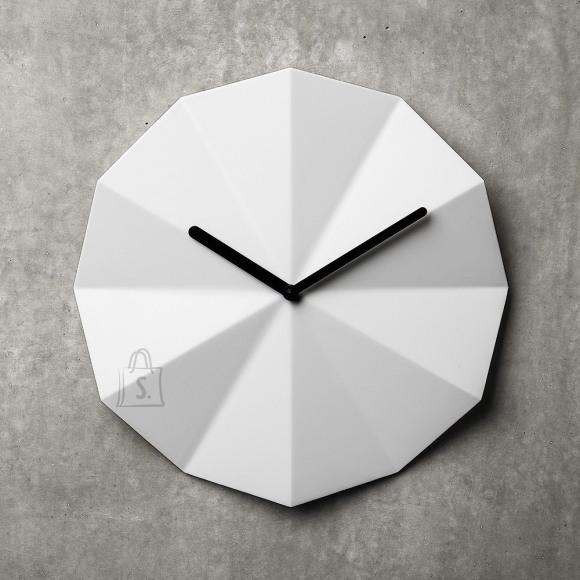 Lawa Design Delta Clock seinakell valge