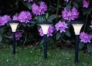Päikesepaneeliga aiavalgustikomplekt 3tk