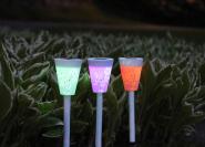 Päikeseenergial värvi muutev LED aiavalgusti 3tk
