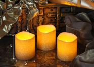 Vahast LED küünalde komplekt 3tk - kuldne