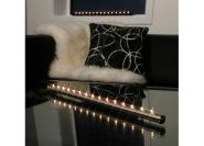 Küünlajalg elektriküünaldega Light Flute, harjatud teras