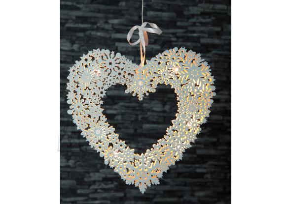 Aknakaunistus Snowflake Heart