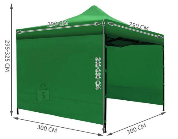 3x3m pop-up, easy-up telk , peotelk, Roheline
