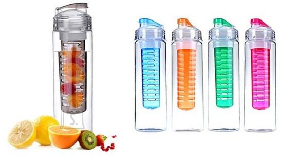 Fruit Infusion värvilise filtriga veepudel värskendava maitsevee nautimiseks!