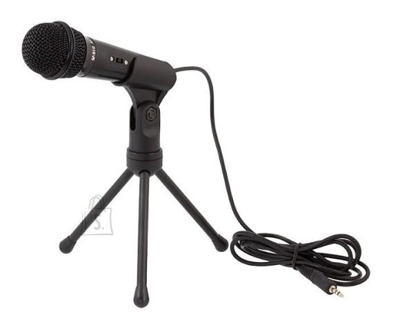 Juhtme ja statiiviga mikrofon