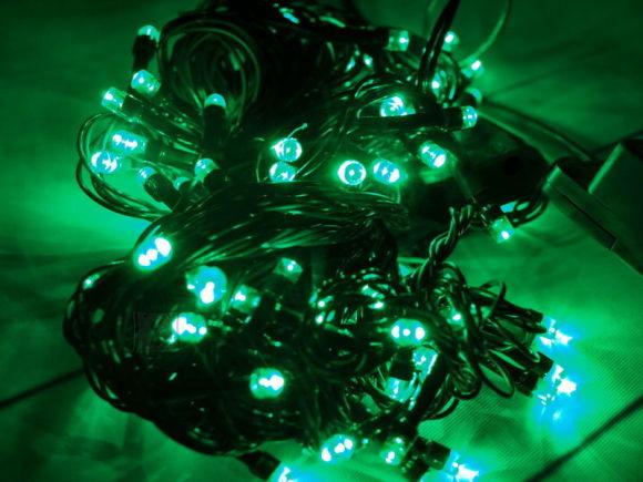 100 LED,7m Roheline jõuluvalgusti