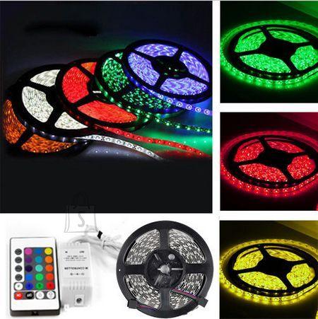 Led riba IP65 5050, värviline, 5m pikk, valgusriba komplekt RGB