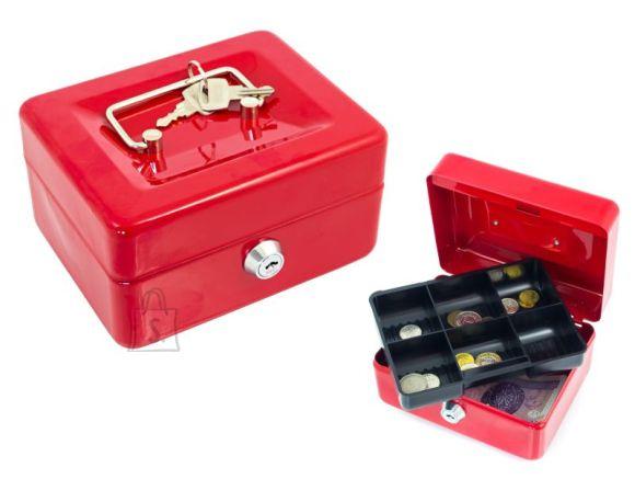 Esselte lukustatav rahakarp, mündikarp, kassa, väike, PUNANE