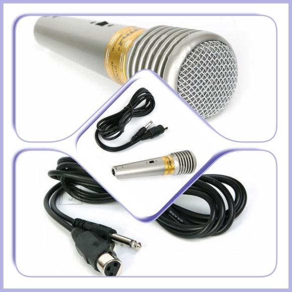 Juhtmega karaoke mikrofon