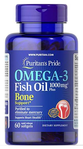 Omega-3 Fish oil 1000mg Plus Bone Support