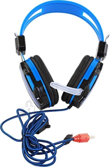 Kvaliteetsed mikrofoniga kõrvaklapid SININE