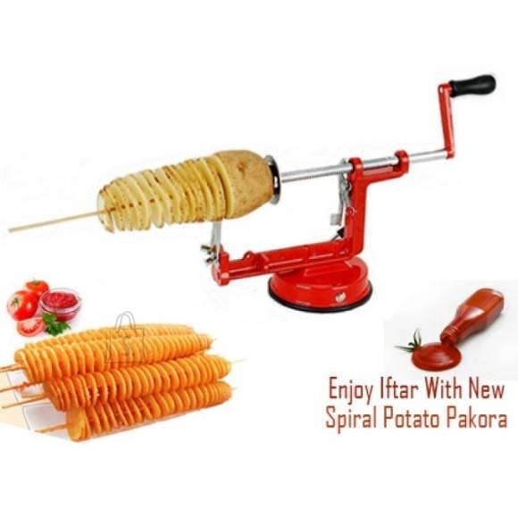 Valmistage maitsvat snäkke! Unikaalne seade kartulite spiraali lõikamiseks.