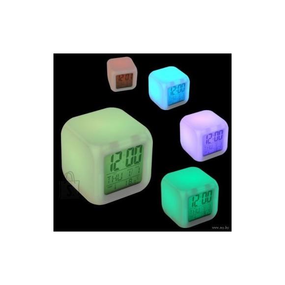 Kauni värvimuutva LED-valgusega 5-in-1 kuubik-äratuskell