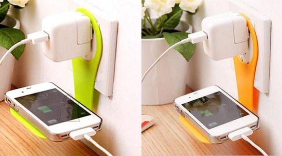 Rippuv mobiiltelefoni laadija hoidja