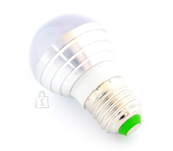 RGB värviline LED-lamp E27, infrapuna (IR) kaugjuhtimispultiga.