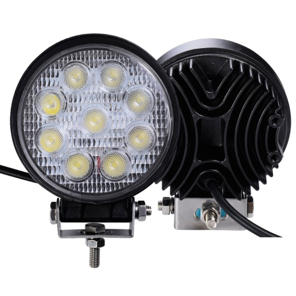 9 LED - lisa, töötuli autole ümmargune 27W