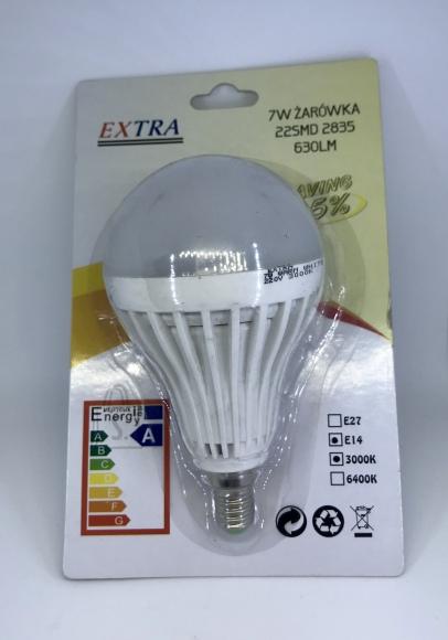 EXTRA 7W 22SMD 630LM E14 3000K LED pirn