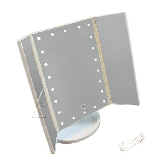 22 LED kosmeetiline peegel VALGE