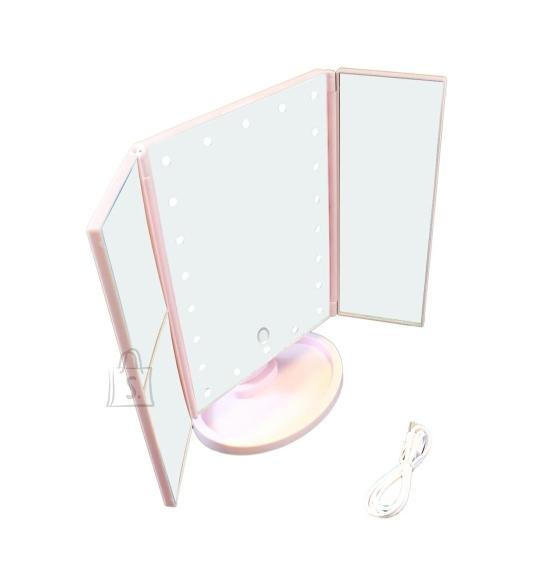 22 LED kosmeetiline peegel ROOSA