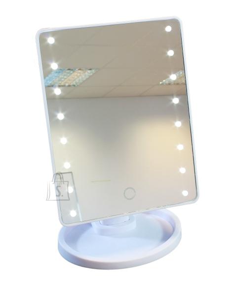 Peegel 16 LED Valge