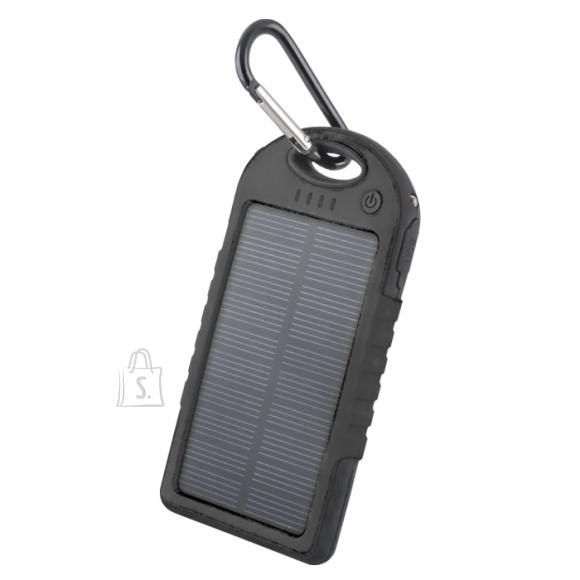 FOREVER Akupank 5000 mAh päikesepaneeliga Must STB-200