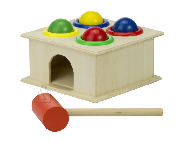 Puidust laste mänguasi + haamer KX7611
