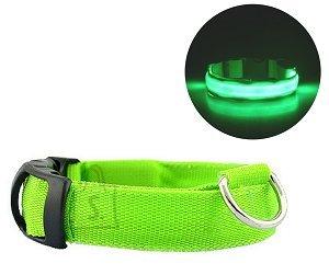 Koera LED kaelarihm L kuni 59CM Roheline