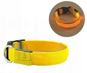 Koera LED kaelarihm S kuni 38CM Kollane