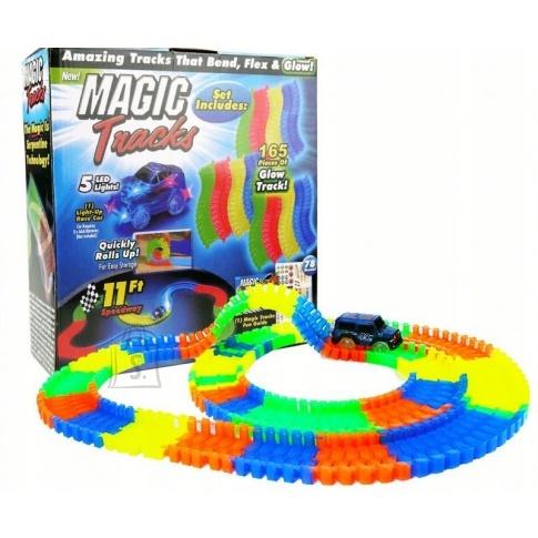 Paindlik ralliradade komplekt lapsele Magic Track. 165 tk