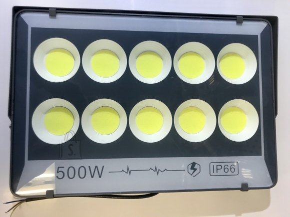500w LED prozektor O-LED SLIM COB KÜLM VALGE, hall korpus