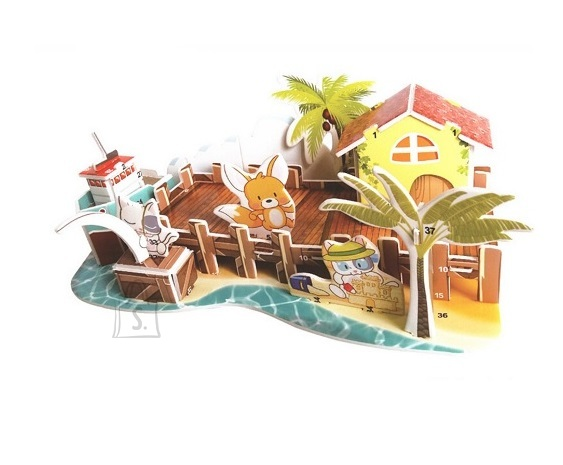 PUZZLE 3D pusle papist maja rannas