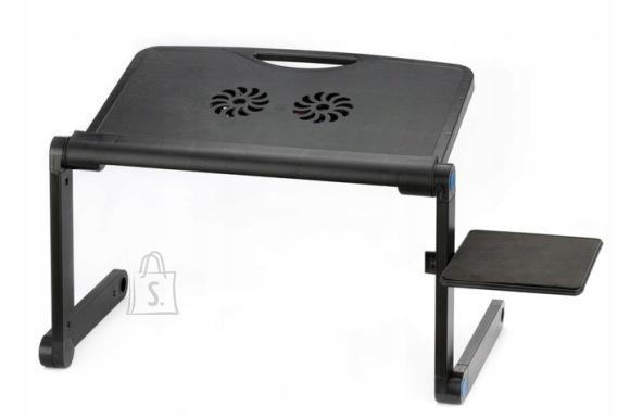 Universaalne kokkupandav laptopi laud jahutusega