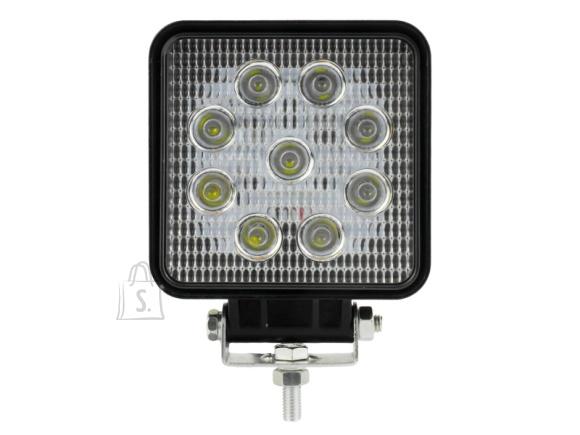9 LED - Töövalgusti LED kandiline 27W