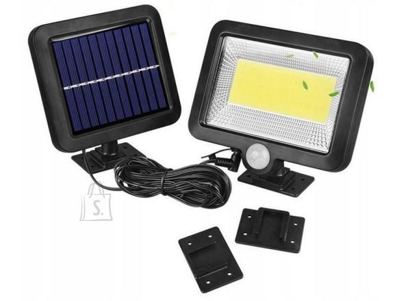 100 LED COB lamp päikesepaneeliga