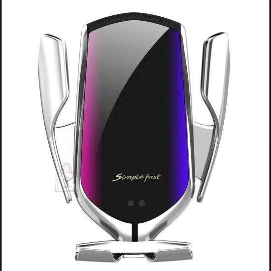 Telefoni laadija koos hoidikuga autosse SMART SENSOR R1 SILVER