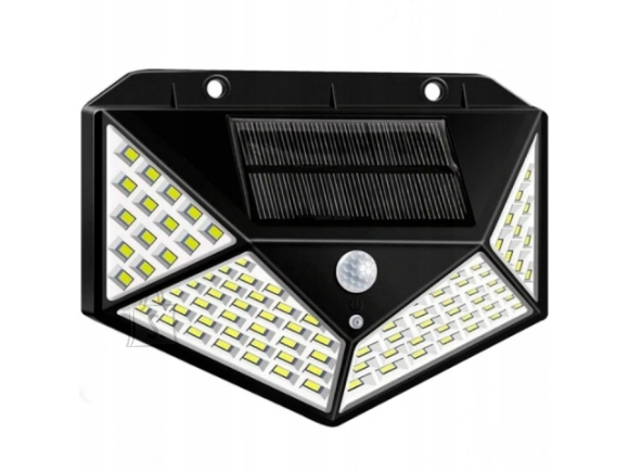 100 LED Päikesepaneeliga LED lamp liikumisanduriga