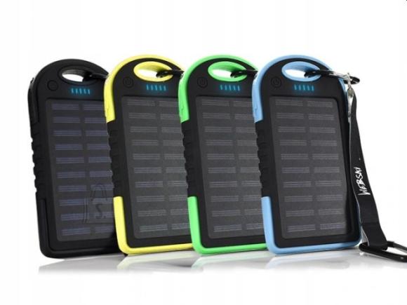 Päikesepaneeliga akupank 5000 mAh 2 x USB
