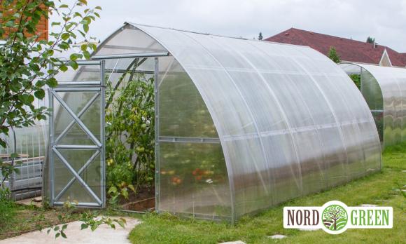 Kasvuhoone Valga 2,6x8m polükarbonaat 4mm