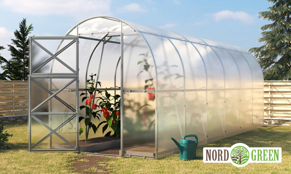 Kasvuhoone Saare  2x6m polükarbonaat 4mm