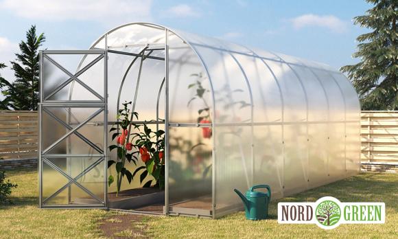 Kasvuhoone Saare  2x8m polükarbonaat 6mm