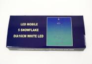 5 valge LED tulega riputatavad lumehelbed